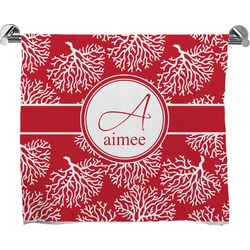 Coral Full Print Bath Towel (Personalized)