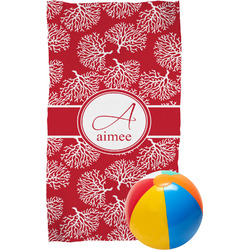 Coral Beach Towel (Personalized)
