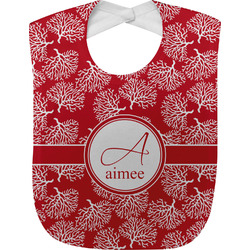Coral Baby Bib (Personalized)