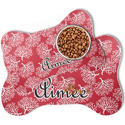 Coral Bone Shaped Dog Food Mat (Personalized)