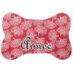 Coral Bone Shaped Dog Food Mat (Personalized)