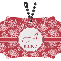 Coral Rear View Mirror Ornament (Personalized)