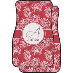 Coral Car Floor Mats (Front Seat) (Personalized)