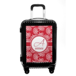 Coral Carry On Hard Shell Suitcase (Personalized)