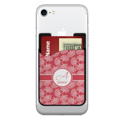 Coral 2-in-1 Cell Phone Credit Card Holder & Screen Cleaner (Personalized)