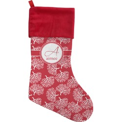 Coral Christmas Stocking (Personalized)