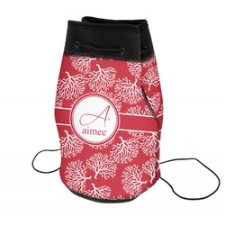 Coral Neoprene Drawstring Backpack (Personalized)