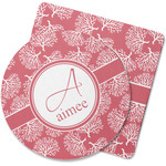 Coral Rubber Backed Coaster (Personalized)