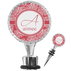 Coral Wine Bottle Stopper (Personalized)