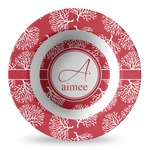 Coral Plastic Bowl - Microwave Safe - Composite Polymer (Personalized)