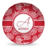 Coral Microwave Safe Plastic Plate - Composite Polymer (Personalized)
