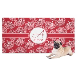 Coral Dog Towel (Personalized)