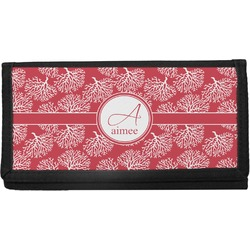 Coral Canvas Checkbook Cover (Personalized)