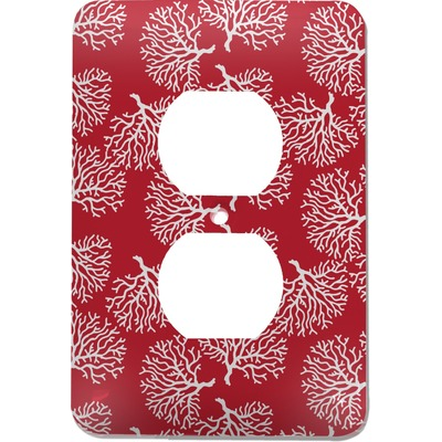 Coral Electric Outlet Plate (Personalized)