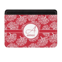 Coral Genuine Leather Front Pocket Wallet (Personalized)