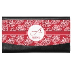 Coral Genuine Leather Ladies Wallet (Personalized)
