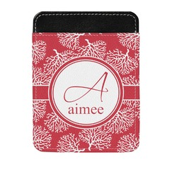 Coral Genuine Leather Money Clip (Personalized)