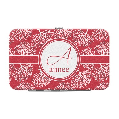Coral Genuine Leather Small Framed Wallet (Personalized)