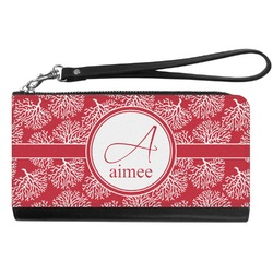 Coral Genuine Leather Smartphone Wrist Wallet (Personalized)