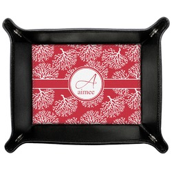 Coral Genuine Leather Valet Tray (Personalized)