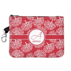 Coral Zip ID Case (Personalized)