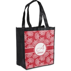 Coral Grocery Bag (Personalized)