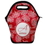 Coral Lunch Bag w/ Name and Initial