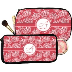Coral Makeup / Cosmetic Bag (Personalized)