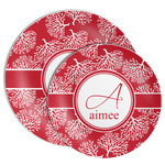 Coral Melamine Plate (Personalized)