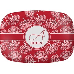Coral Melamine Platter (Personalized)