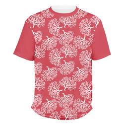 Coral Men's Crew T-Shirt (Personalized)