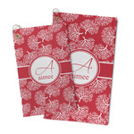 Coral Microfiber Golf Towel (Personalized)