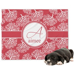 Coral Minky Dog Blanket - Regular (Personalized)
