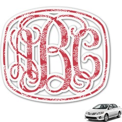 Coral Monogram Car Decal (Personalized)