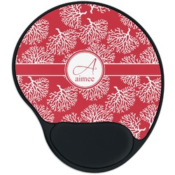 Coral Mouse Pad with Wrist Support