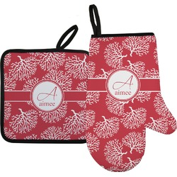 Coral Oven Mitt & Pot Holder (Personalized)