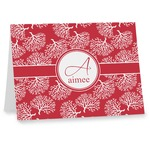 Coral Note cards (Personalized)