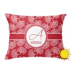 Coral Outdoor Throw Pillow (Rectangular) (Personalized)
