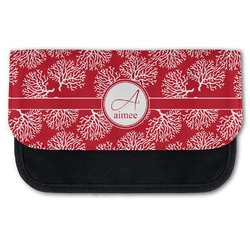 Coral Canvas Pencil Case w/ Name and Initial