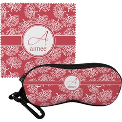 Coral Eyeglass Case & Cloth (Personalized)
