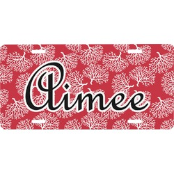 Coral Front License Plate (Personalized)