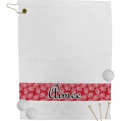 Coral Golf Towel (Personalized)