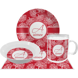 Coral Dinner Set - 4 Pc (Personalized)