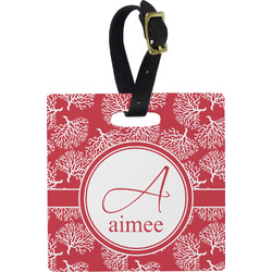 Coral Square Luggage Tag (Personalized)