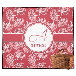 Coral Outdoor Picnic Blanket (Personalized)
