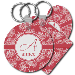 Coral Plastic Keychains (Personalized)