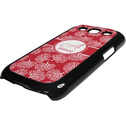 Coral Plastic Samsung Galaxy 3 Phone Case (Personalized)
