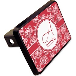 "Coral Rectangular Trailer Hitch Cover - 2"" (Personalized)"