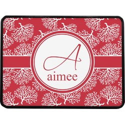 """Coral Rectangular Trailer Hitch Cover - 1.25"""" (Personalized)"""