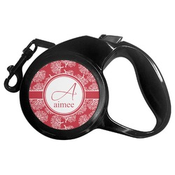 Coral Retractable Dog Leash - Multiple Sizes (Personalized)